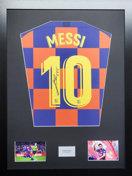 Lionel Messi Barcelona 2020 Signed Shirt Display With COA - Kicking The Balls