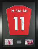 Mohamed Salah Liverpool Signed Shirt Display With COA