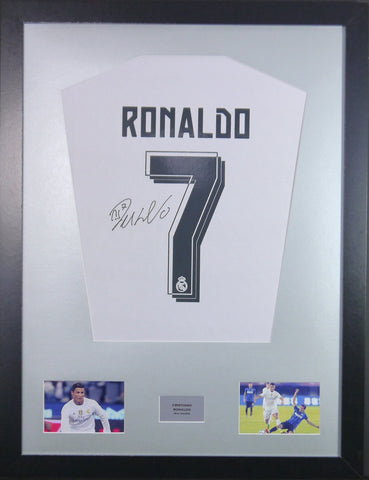 Ronaldo Real Madrid Signed Shirt Display With COA - Kicking The Balls