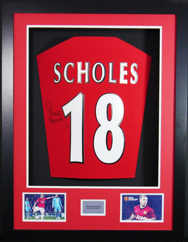 Paul Scholes Manchester United Signed Shirt