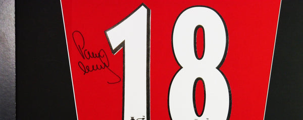 Paul Scholes Manchester United Signed Shirt Display With COA - Kicking The Balls