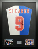 Alan Shearer Blackburn Rovers Signed Shirt Display With COA - Kicking The Balls