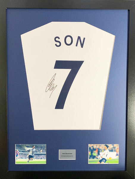 Son Tottenham Hotspur Signed Shirt Display With COA