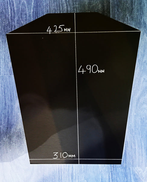 Ready made shirt framing kit with free customised metal plaque - standard size