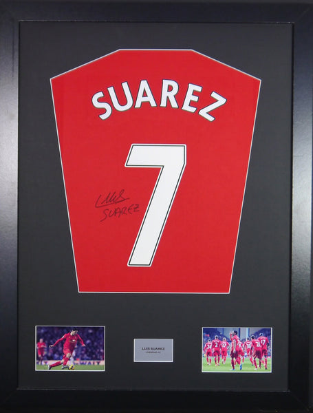 Luis Suarez Liverpool Signed Shirt Display With COA
