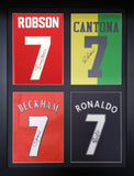 Robson, Cantona, Beckham and Ronaldo Manchester United Signed Shirt Display with COA