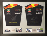 Max Verstappen and Daniel Ricciardo Formula 1 Signed Shirt Display 2018 with COA - Kicking The Balls