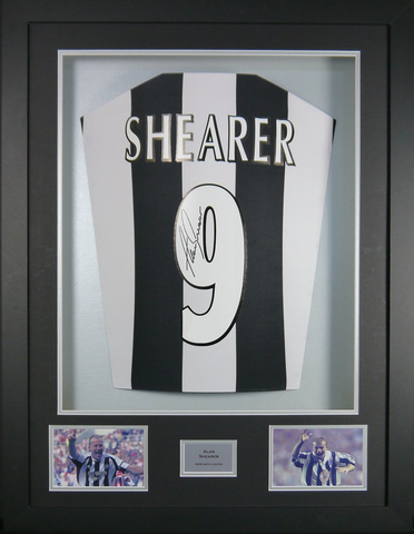 Alan Shearer Newcastle United Signed Shirt 3D Display with COA - Kicking The Balls