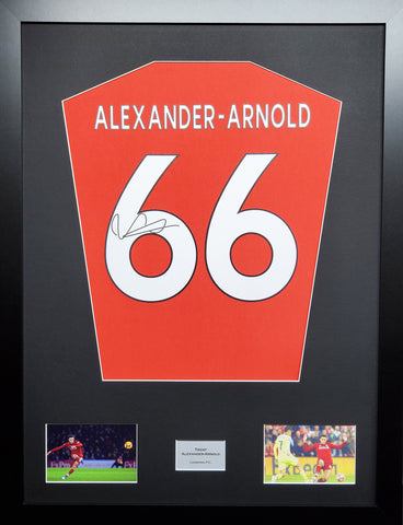 Trent Alexander-Arnold Liverpool signed shirt display with COA