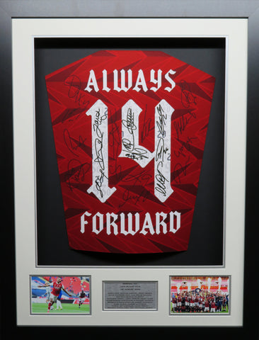 Arsenal Fa Cup Winners 2020 Team signed shirt 3d display with COA