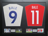 Gareth Bale Tottenham Hotspur and Wales signed Shirt Display with COA