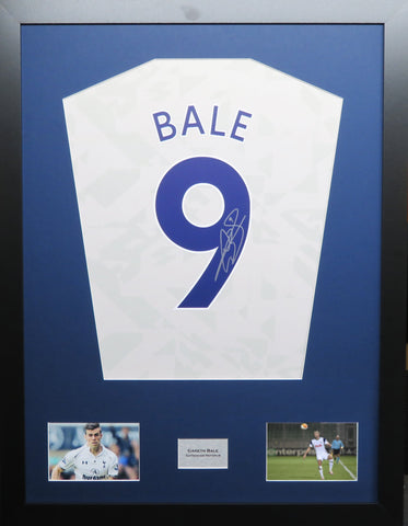 Gareth Bale Tottenham Hotspur signed shirt display with COA