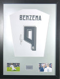 Karim Benzema Real Madrid Signed Shirt Display With COA - Kicking The Balls