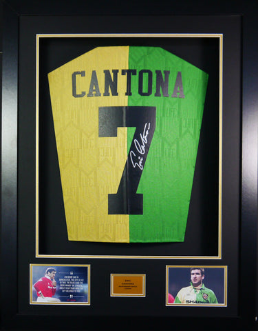 Eric Cantona Man United Signed Shirt 3D Display with COA