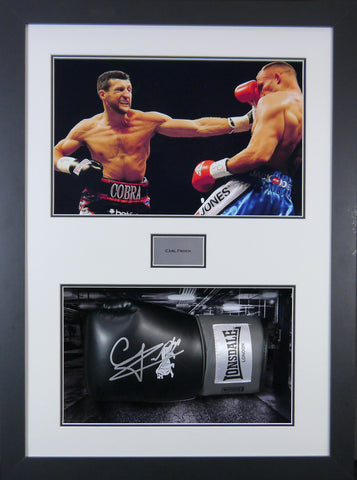Carl Froch Signed Boxing Glove 3D Display with Panoramic Boxing Backdrop-Frame It Display It Framing Kit Display Manufacturers