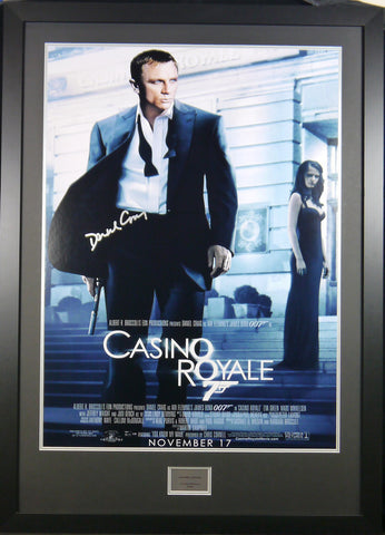Casino Royale Daniel Craig Signed Movie Poster with COA - Kicking The Balls