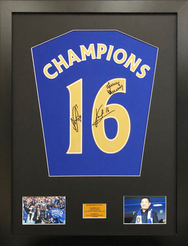 Leicester City Champions. Chairman's Edition, Signed Shirt Display With COA - Kicking The Balls