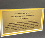 Champions 19 Manchester City Team Signed 3D Display with COA - Kicking The Balls