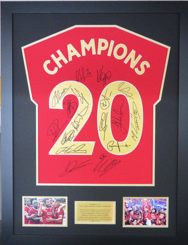 Liverpool Team Signed Premier League Champions Display with COA Deluxe Edition