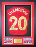 Liverpool Team Signed Premier League Champions 3D Display with COA