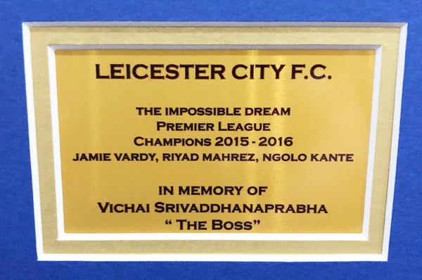 Leicester City Champions, Chairmans Edition, Signed 3D Display with COA - Kicking The Balls