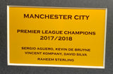 Manchester City Signed Team Shirt Display with COA - Kicking The Balls