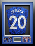 Chelsea 2020 Season Team Signed Shirt 3D Display With COA