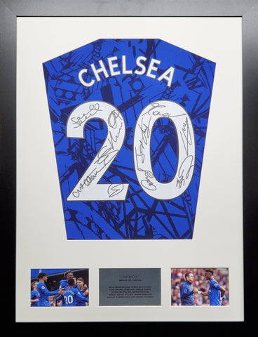 Chelsea 2020 Season Team Signed Shirt Display With COA - Kicking The Balls