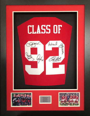 Class of 92 signed Manchester United Shirt 3D Display with COA LTD Edition - Kicking The Balls