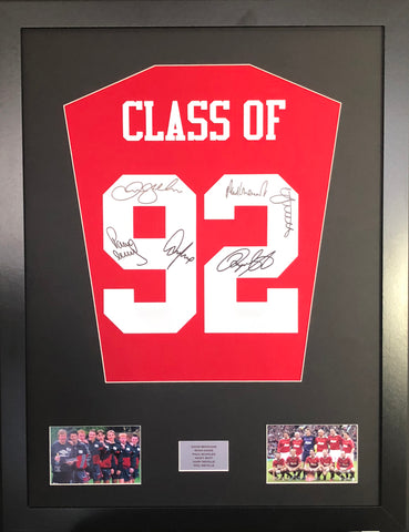 Class of 92 signed Manchester United Shirt Display with COA LTD Edition - Kicking The Balls