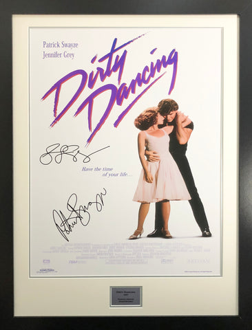 Dirty Dancing Jennifer Grey, Patrick Swayze Signed Movie Poster with COA - Kicking The Balls