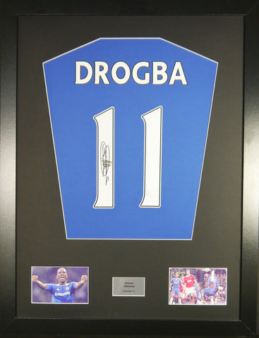 Didier Drogba Chelsea Signed Shirt Display With COA