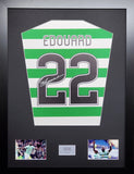 Odsonne Edouard Celtic signed shirt display with COA - Kicking The Balls