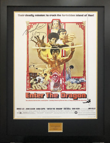 Bruce Lee Enter The Dragon Signed Movie Poster with COA