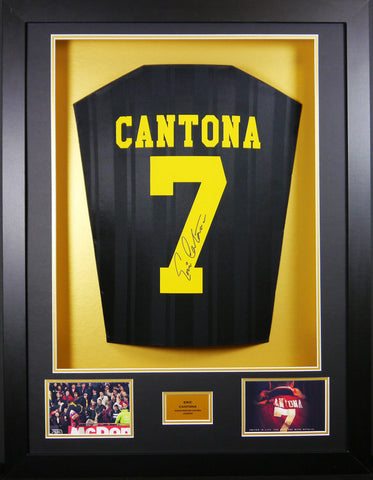 Eric Cantona Manchester United Kung Fu Kick Signed Shirt 3D Display with COA - Kicking The Balls