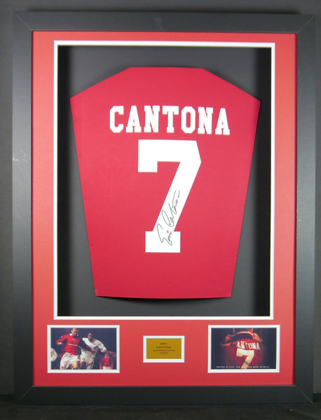 Eric Cantona Manchester United Signed Shirt with COA - Kicking The Balls