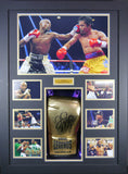 Floyd Mayweather Signed Boxing Glove 3D Display with Panoramic Boxing Backdrop-Frame It Display It Framing Kit Display Manufacturers