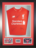 Gerrard, Fowler and Carragher signed Liverpool Shirt in 3D Display with COA with free Dalglish Liverpool Display
