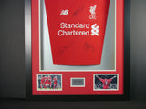 Gerrard, Fowler and Carragher signed Liverpool Shirt in 3D Display with COA