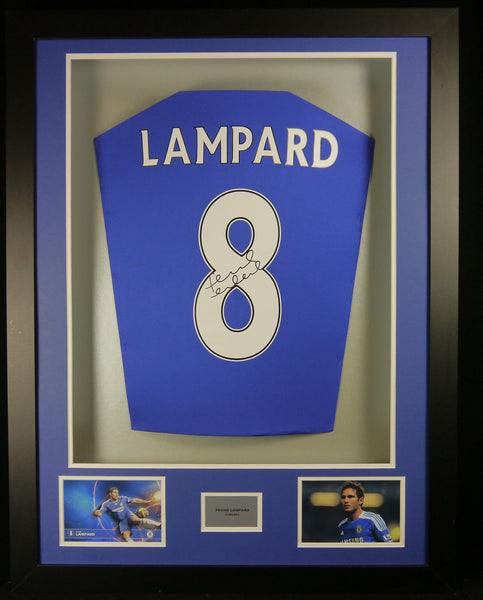 Frank Lampard Chelsea Signed Shirt 3D Display with COA
