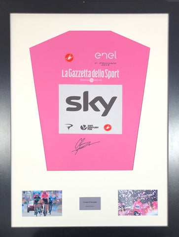 Chris Froome Giro D'Italia 2018 Signed Jersey Display With COA