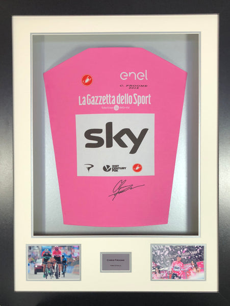 Chris Froome Giro D'Italia Signed Cycling Jersey 3D Display with COA - Kicking The Balls