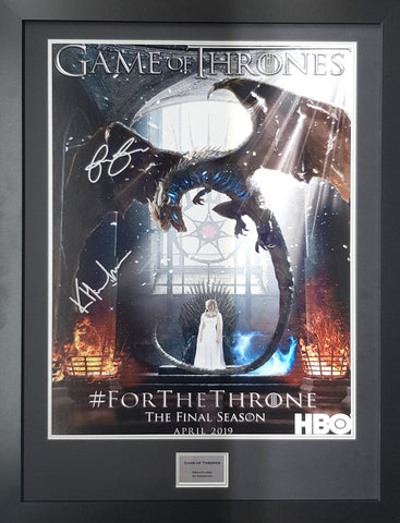 Game Of Thrones signed poster display with COA - Kicking The Balls