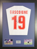 Paul Gascoigne England Signed Shirt Display With COA - Kicking The Balls