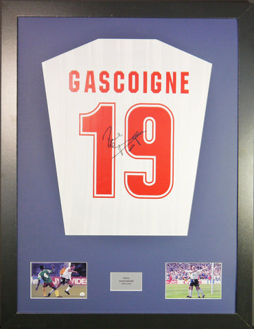 Paul Gascoigne England Signed Shirt
