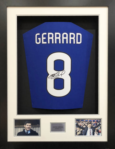 Steven Gerrard Rangers Rear Signed 3D Display with COA