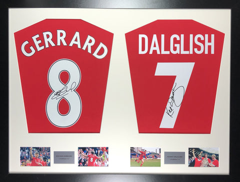 Gerrard and Dalglish Liverpool Signed Shirt Display with COA