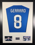 Steven Gerrard Rangers Signed Shirt Display With COA