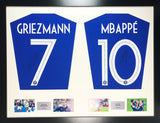 Griezmann and Mbappe France world cup 2018 Signed Shirt Display with COA - Kicking The Balls