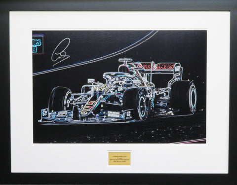 Lewis Hamilton British GP  Signed Artwork Display with COA